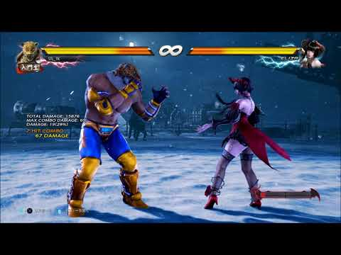 Tekken 7 King FC d/f+2 Combos | PS4