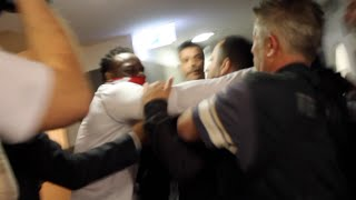 CARNAGE! -DERECK CHISORA LOSES PLOT & GOES ON RAMPAGE AFTER BEING HIT WITH PLASTIC BOTTLE @ WEIGH IN