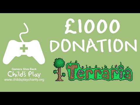 £1000 donation to Child's Play reactions - Terraria Trio