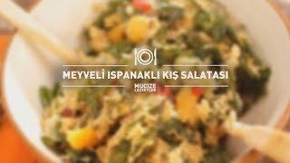 Meyveli Ispanaklı Kış Salatası Tarifi #mucizelezzetler