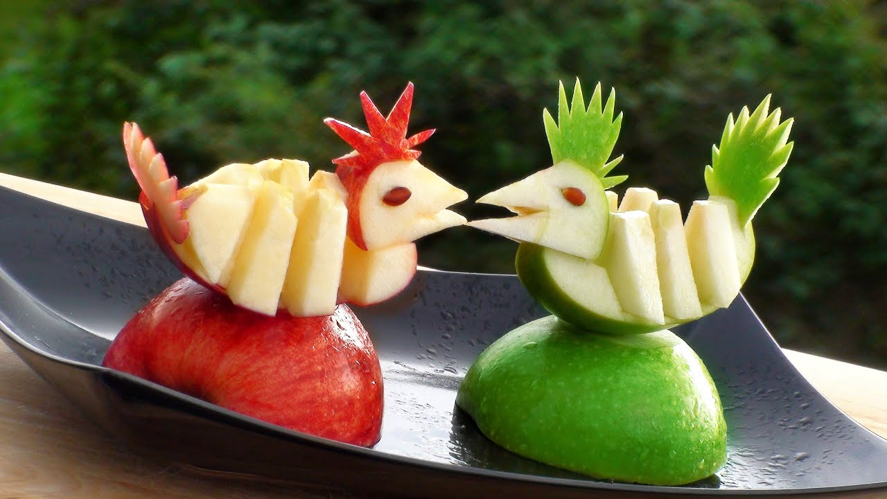 How To Make Apple Decoration Apple Art Fruit Carving Apple