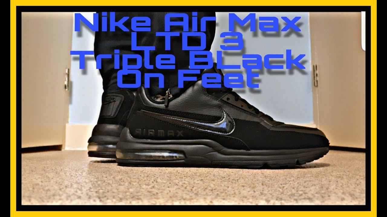 Nike Air Max Ltd 3 Triple Black On Feet