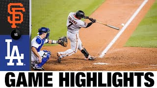 Mauricio Dubon lifts Giants with RBI single | Giants-Dodgers Game Highlights 7/26/20