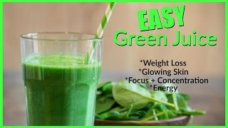 Easy Green Smoothie │ Weight Loss, Energy, Concentration, Glowing Skin + Hair, and Mood!