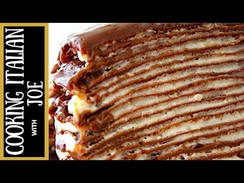 Nutella Crepe Cake Recipe Cooking Italian with Joe