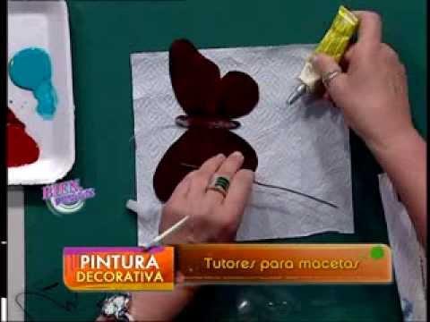 Mónica Godfroit  - Bienvenidas TV - Pinta tutores para macetas.