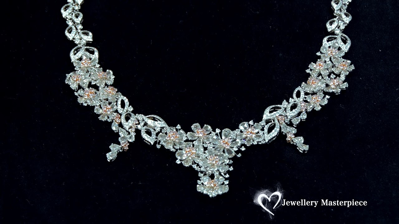 Jewellery Natural Pink Diamond Necklace