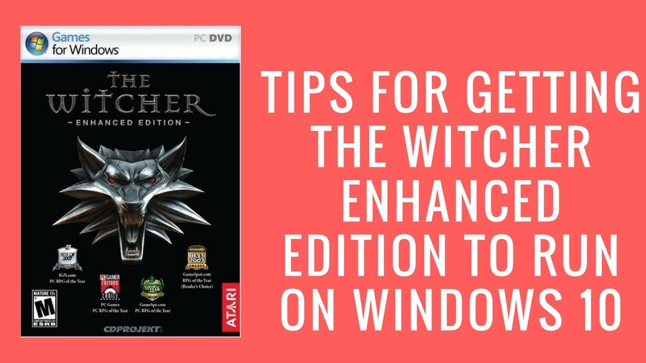 The witcher: enhanced edition (2012) macintosh box cover art.
