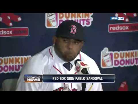 Red Sox Pablo Sandoval Press Conference