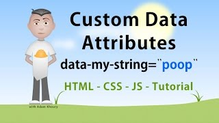 Custom Data Attributes HTML JavaScript CSS Tutorial