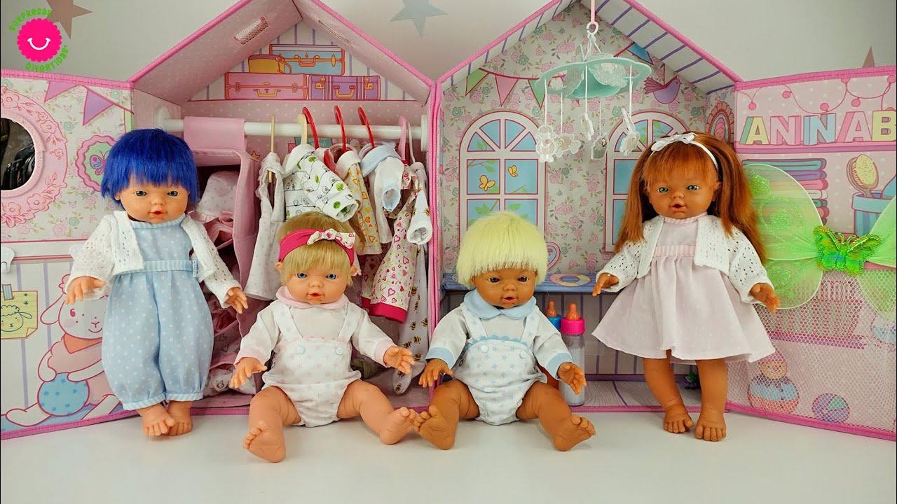 El armario de los bebés NADURINES con toda su ropita nueva y vestidos para muñecas