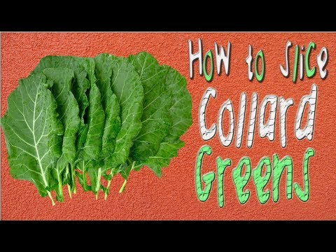 HOW TO CLEAN & SLICE COLLARD GREENS 🌿🌱☘🍀