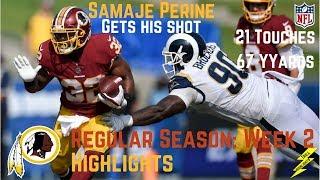 Samaje Perine Week 2 Regular Season Highlights 21 Touches   9/17/2017
