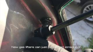 Gas lifter strut  removal