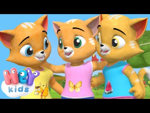 A három kis cica - Gyerekdalok és mondókák | HeyKids Magyarul thumbnail