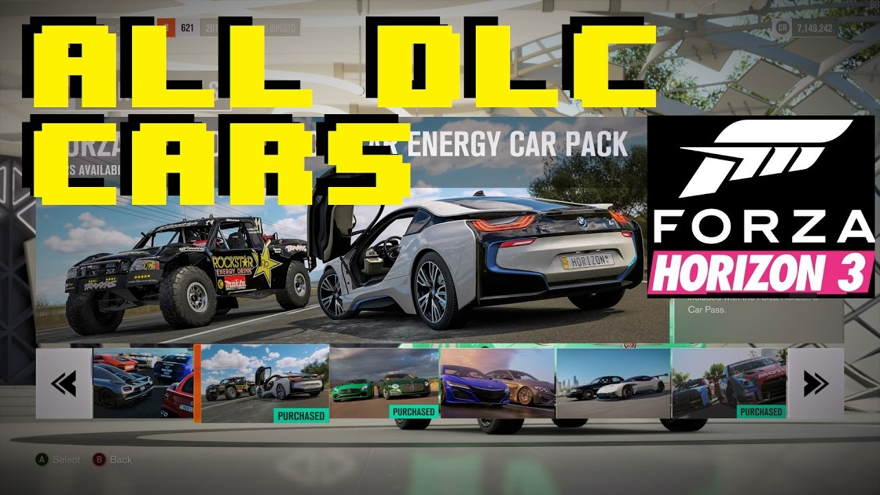 all dlc cars all car packs forza horizon 3 youtube. Black Bedroom Furniture Sets. Home Design Ideas