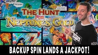 💰 JACKPOT on a BACKUP SPIN 🔱 RED SCREENS Hunt for Neptune's GOLD 💵 Ho-Chunk Gaming Madison #ad