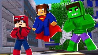 Minecraft : VIRAMOS SUPER HERÓIS COM SUPER PODERES !! - Minecraft Super Heróis #1