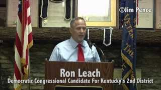 Ron Leach Kicks Off His Congressional Campaign Tour In Vine Grove, Kentucky