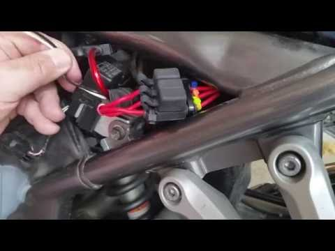 Suzuki Bandit Motorcycle Switched and Fused Wiring Harness - YouTube