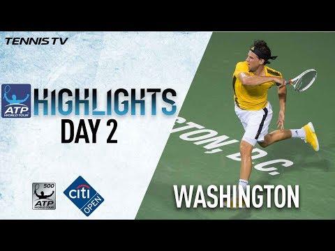 Highlights: Thiem, Nishikori, Del Potro Win At Washington 2017 Tuesday