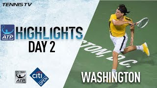 Highlights: Thiem, Nishikori, Del Potro Win At Washington 2017 Tuesday