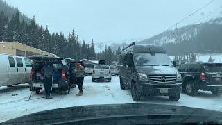Colorado Foothills Snowstorm Live on I-70
