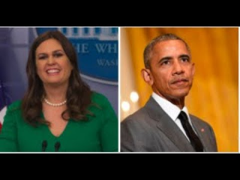 SARAH SANDERS LAUGHS AS OBAMA TRIES TO TAKE CREDIT FOR TRUMP ECONOMY!