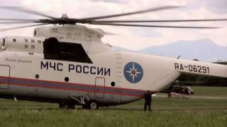 Mil Mi-26 Hélicoptère Russe géant décollage Lausanne le plus gros hélicoptère du monde