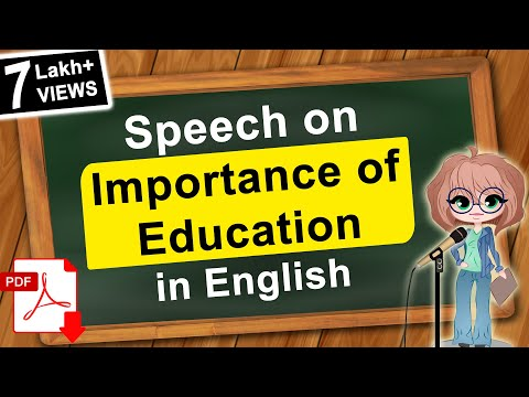 importance of adult education speech Expand your mind this brings us to a very important point on intelligence, information, and lifelong learning there are three different kinds of education that you can acquire, either deliberately or in a random fashion.