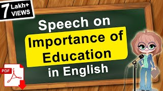 Speech on Importance of Education in English | Click How