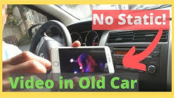 How to play Youtube Music from iPhone 8 thru Older Car Radio with No BLUETOOTH