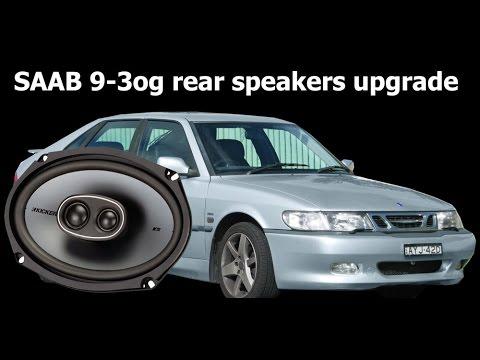 Saab 9-3og/ng900 Rear Speakers Upgrade