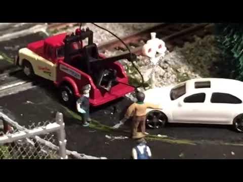 Model RR N Scale Layout #26 – Scratch built an Auto Repair Shop
