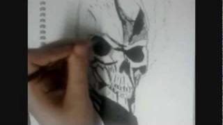 Ghost Rider speed drawing/painting (Ghost Rider Spirits Of Vengeance)