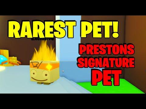 How To Get Prestons Signature Pet! Rarest Pet! Pet Simulator X