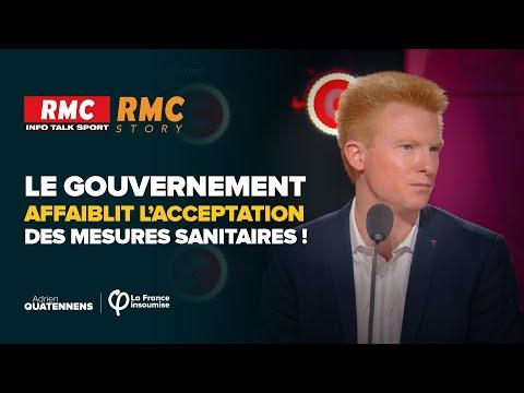 Le gouvernement affaiblit l'acceptation des mesures sanitaires !   Adrien Quatennens