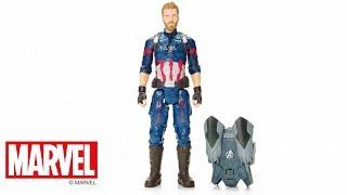 Hasbro Brasil - Vídeo 360° Figura Avengers Power Pack Capitão América - E0607