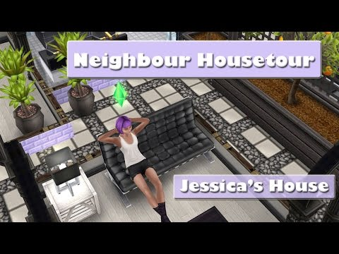 SIMS FREEPLAY - NEIGHBOURS HOUSE TOUR - JESSICA'S HOUSE