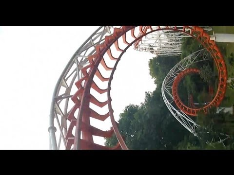 Chinese Knock-Off Arrow Loop Screw Roller Coaster POV Zhongshan Park, Wuhan, China