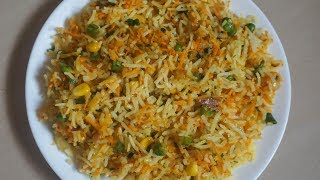 2 Minute Rice Recipes | lunch box recipes and ideas - Carrot Rice Recipe