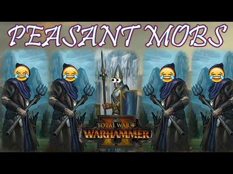 CORE UNIT: Peasant Mobs - Bretonnia vs High Elves // Total War: WARHAMMER II Multiplayer Battle |