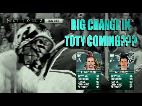 NHL 17 Big Change in TOTY this Year??? Debate & Current Team Reveal