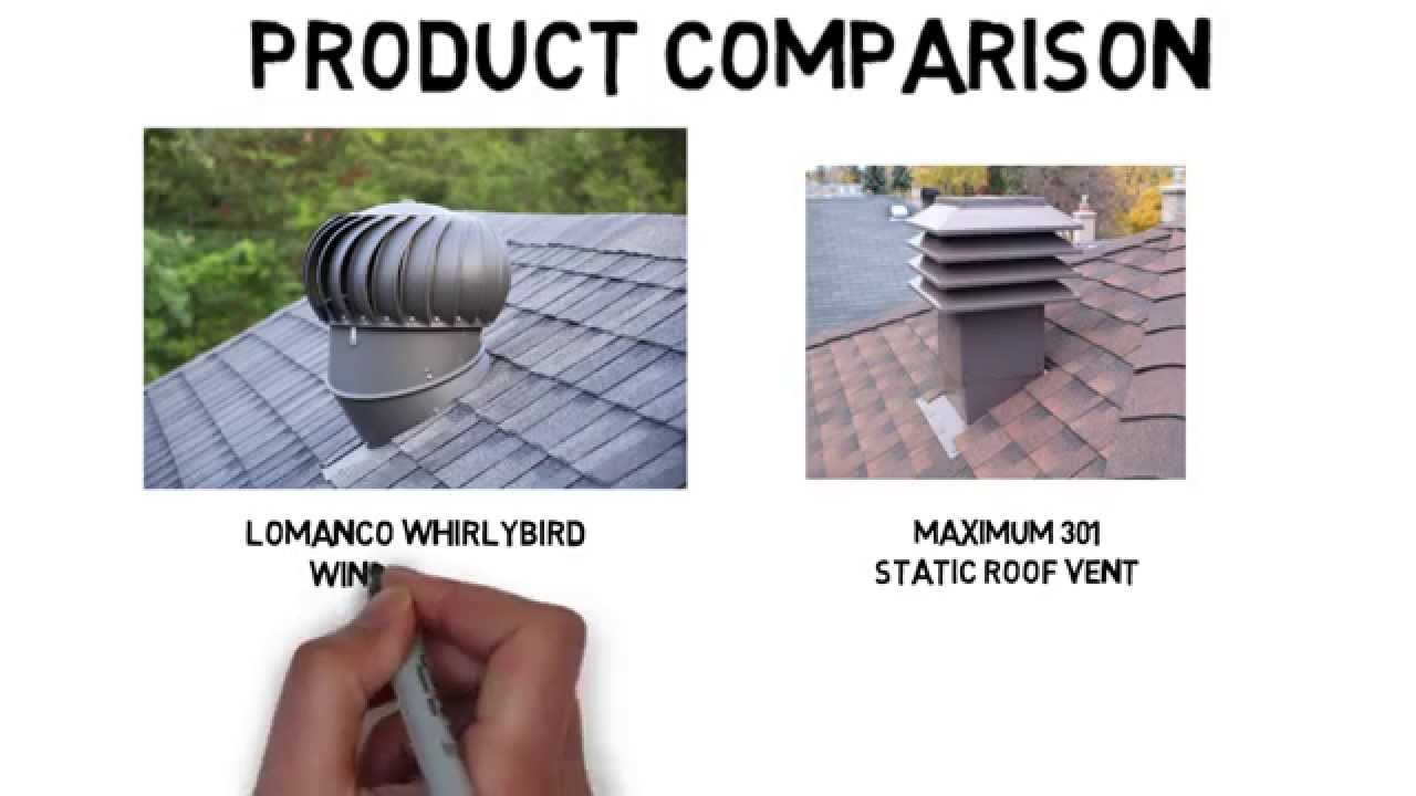 Lomanco Whirlybird® Turbine Vent   Maximum 301 Comparison   YouTube