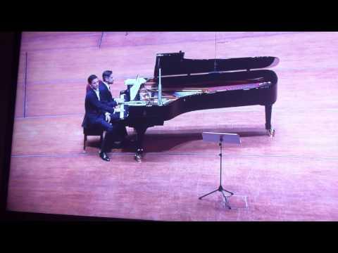 Andreas Ottensamer & Jose Gallardo fooling around at clarinet recital