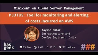 PLUTUS : Tool for monitoring and alerting of costs incurred on AWS