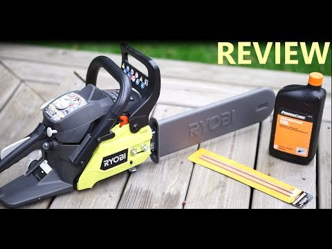 Ryobi 14 in 37cc 2 cycle gas chainsaw review youtube ryobi 14 in 37cc 2 cycle gas chainsaw review greentooth Images