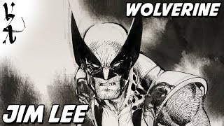 Jim Lee drawing Wolverine during Twitch Stream