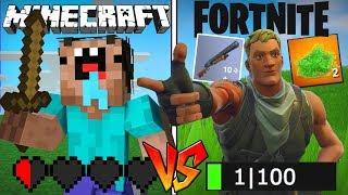 Minecraft Noob vs Fortnite Noob
