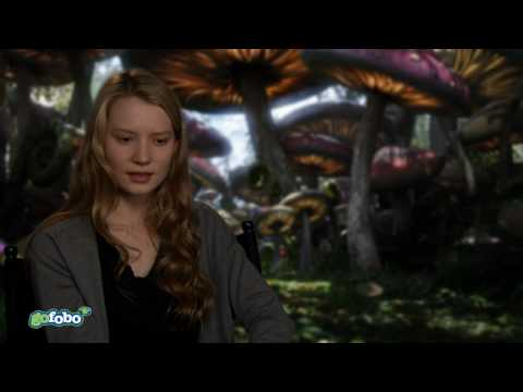 Mia Wasikowska talks about Alice in Wonderland